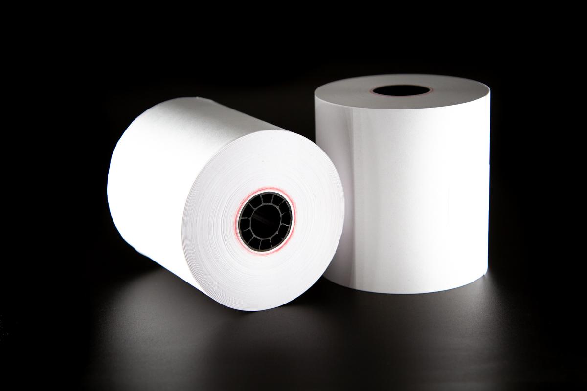1 Ply Bond Receipt Paper Rolls 3? x 165? - (Box of 50 Rolls)